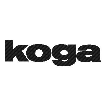 Koga logo Carbon Decal