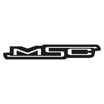 MSC bikes logo Carbon Decal
