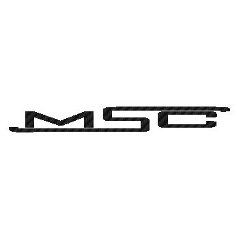 MSC bikes logo Carbon Decal 2
