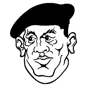 Sticker Hugo Chavez Caricature