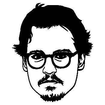 Sticker Johnny Depp