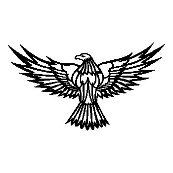 Eagle Flying Decal