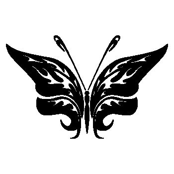 Sticker Papillon déco 76