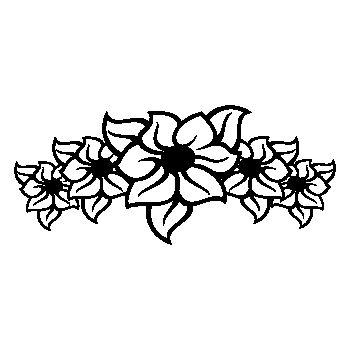 Flowers armband Decal