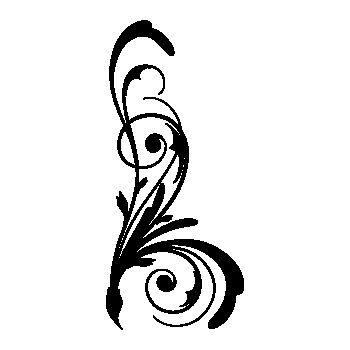 Sticker Fleurs Design Élément 3