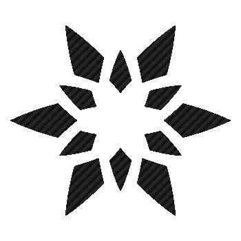 Sticker Carbone Étoile Fleur