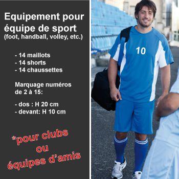 Equipements pour équipes de sport - 14 joueurs