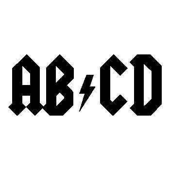 AB CD parody AC DC T-Shirt