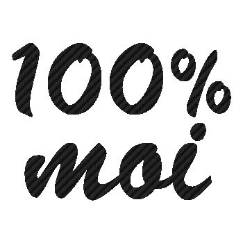 Sticker Carbone 100% Moi