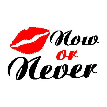 Tee shirt Kiss Me Now or Never Lèvres