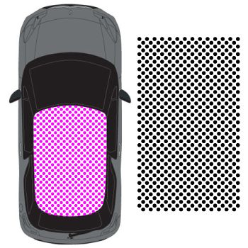 Car Roof Polka dot Decal