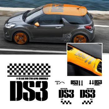Kit Stickers Citroën DS3 Racing complet 2010