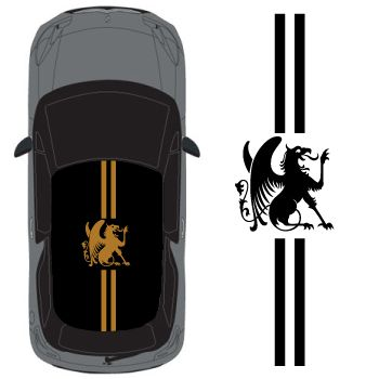 Car Roof Royal Dragon Stripes Decal