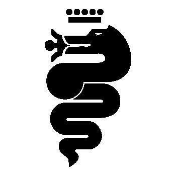 Alfa Romeo Biscione Snake Logo Decal