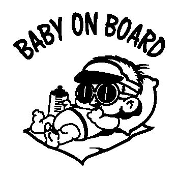 Baby Boy on Board car Decal