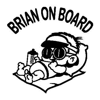 Baby Boy on Board custom decal