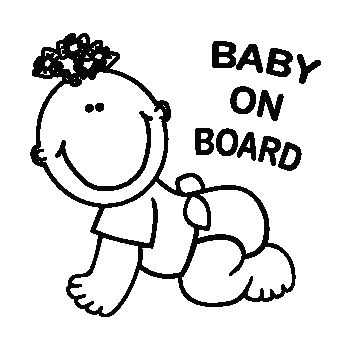 Sticker Auto Baby Girl on Board Rampant à Personnaliser