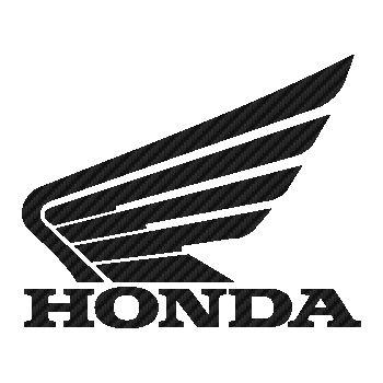 Sticker Carbone Honda Logo