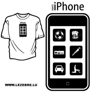 Sweat-Shirt Applications iPhone Masculin