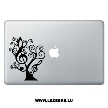 Sticker Macbook Clé de Sol Floral