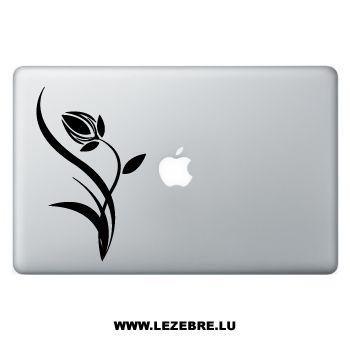 Sticker Macbook Fleur Tulipe Design