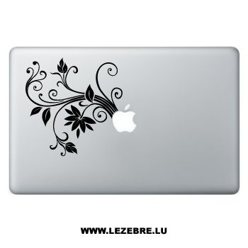 Sticker Macbook Fleurs Design