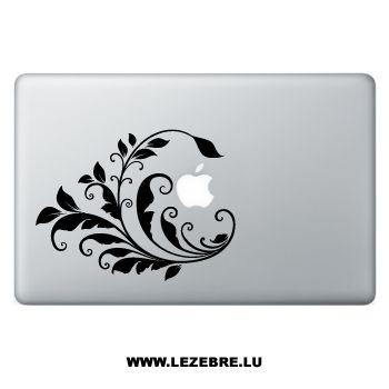Sticker Macbook Fleurs Ornements 2