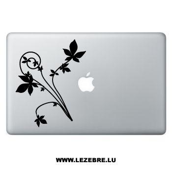 Sticker Macbook Fleurs Ornements