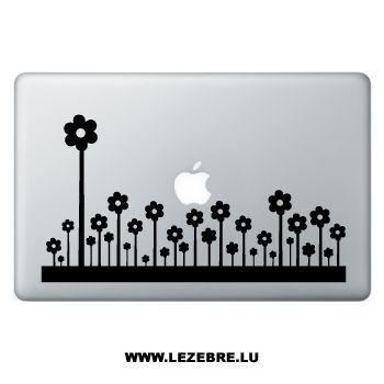 Sticker Macbook Fleurs