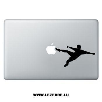 Sticker Macbook Joueur de Football