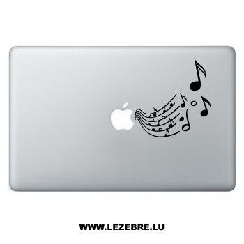 Sticker Macbook Notes de Musique