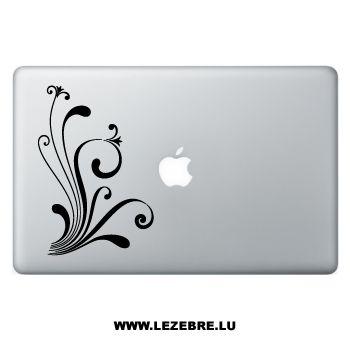 Sticker Macbook Ornement Fleurs