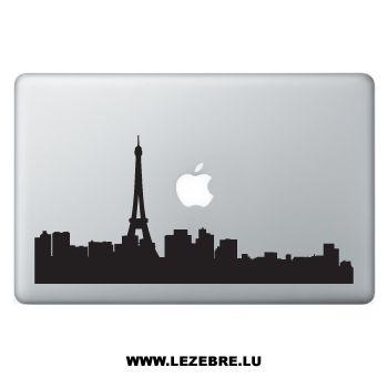 Sticker Macbook Silhouette Paris