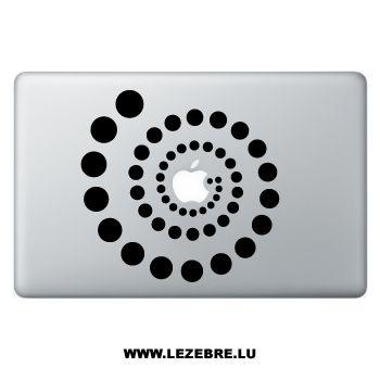 Sticker Macbook Spirale Cercles