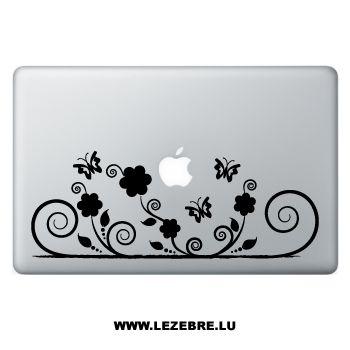 Sticker Macbook Swirls Papillons