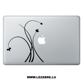 Sticker Macbook Swirls Plantes Design
