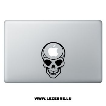 Sticker Macbook Emo Skull