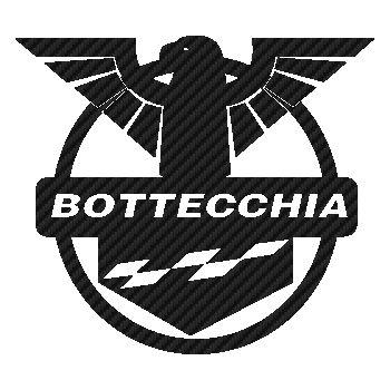 Sticker Carbone Bottecchia Logo Vélo