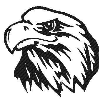Eagle Carbon Decal 7