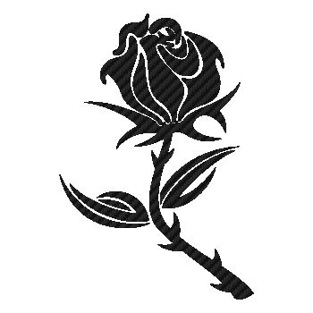 Rose Carbon Decal