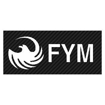 FYM logo Carbon Decal 2