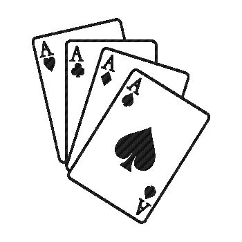 Ace Cards Game Carbon Decal