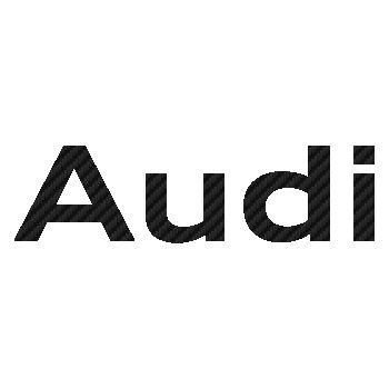Audi logo 2010 Carbon Decal