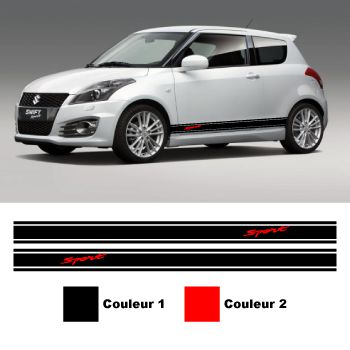 Kit Stickers Bande cotes Suzuki Swift Sport