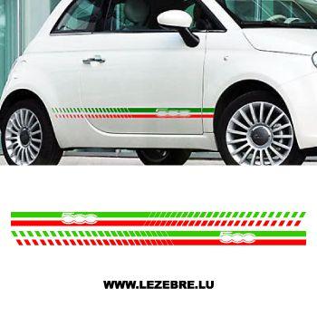 Italian side strips Fiat 500 decal set