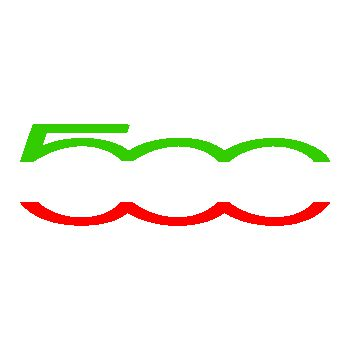 Fiat 500 colors Decal