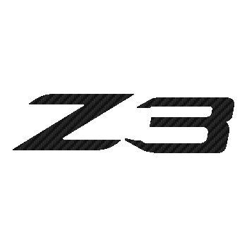 BMW Z3 logo Carbon Decal