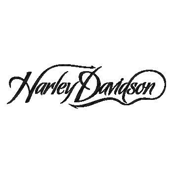 Sticker Carbone Harley Davidson Logo Script ★