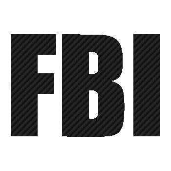 Sticker Carbone FBI Logo
