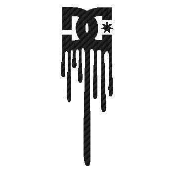 Sticker Carbone DC Shoes Logo Dessin
